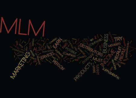THE MAGIC OF MLM Text Background Word Cloud Concept