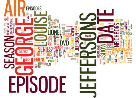 THE JEFFERSONS DVD REVIEW Text Background Word Cloud Concept