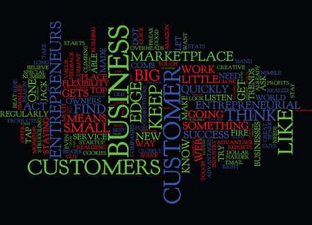 THE ENTREPRENEURIAL EDGE Text Background Word Cloud Concept Ilustração