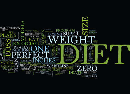 THE PERFECT DIET ANYONE Text Background Word Cloud Concept