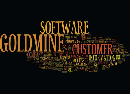 THE NEW GOLDMINE ENTERPRISE Text Background Word Cloud Concept