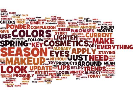 シーズン テキスト背景単語クラウド コンセプトの化粧品が必要
