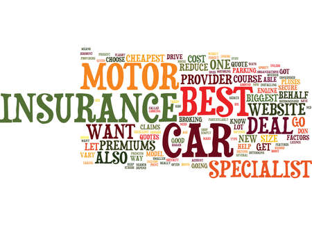 YOU FOUND THE BEST CAR NOW YOU WANT THE BEST MOTOR INSURANCE Text Background Word Cloud Concept