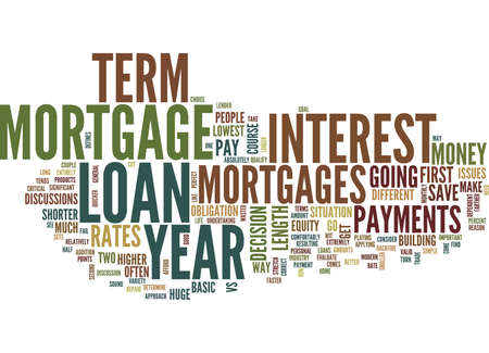 qualify: YEAR VS YEAR MORTGAGES Text Background Word Cloud Concept