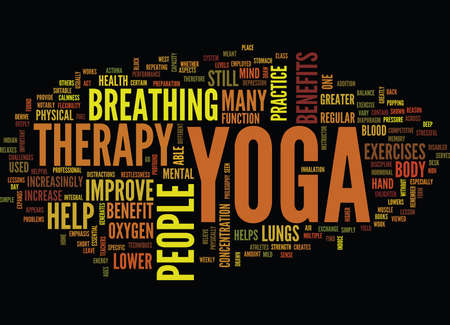 YOGA THERAPY Text Background Word Cloud Concept