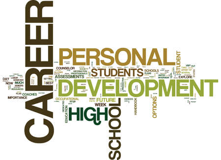 THE IMPORTANCE OF PERSONAL CAREER DEVELOPMENT FOR STUDENTS Text Background Word Cloud Concept