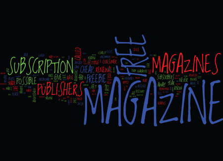 THE MYTH OF FREE MAGAZINE Text Background Word Cloud Concept Illustration