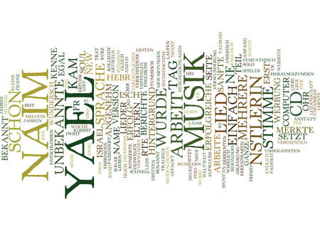 Yael Naim was fr eine Knstlerin Text Background Word Cloud Concept