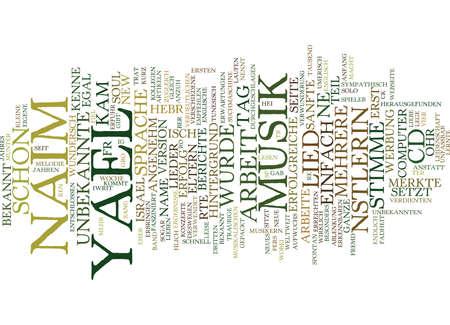 mal: Yael Naim was fr eine Knstlerin Text Background Word Cloud Concept