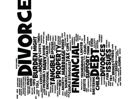 THE PRICE OF A DIVORCE Text Background Word Cloud Concept Иллюстрация