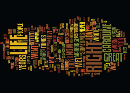 THE LONG WAY Text Background Word Cloud Concept