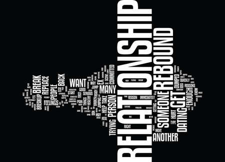 THE PROBLEM WITH THE REBOUND Text Background Word Cloud Concept