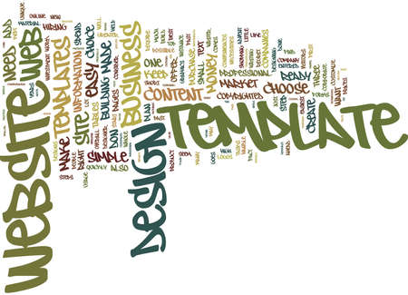 YOU RE DONE WEBSITE DESIGN MADE EASY Text Background Word Cloud Concept Illusztráció