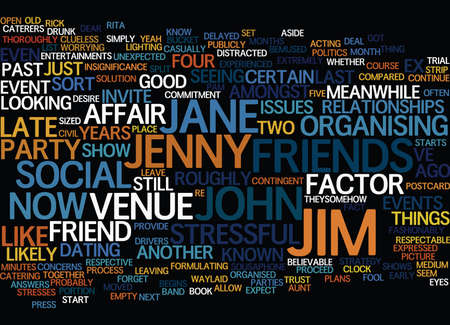 THE EX FACTOR Text Background Word Cloud Concept