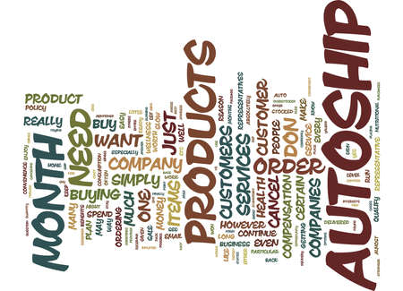 THE MYTH OF AUTOSHIP Text Background Word Cloud Concept Ilustrace
