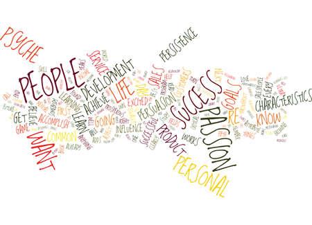 THE P S OF SUCCESS Text Background Word Cloud Concept Illusztráció