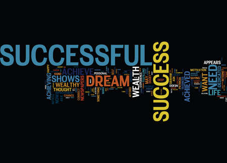 THE NEED TO BE SUCCESSFUL Text Background Word Cloud Concept Ilustração