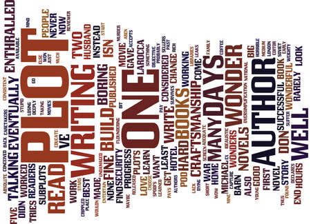 THE ONE PLOT WONDER Text Background Word Cloud Concept