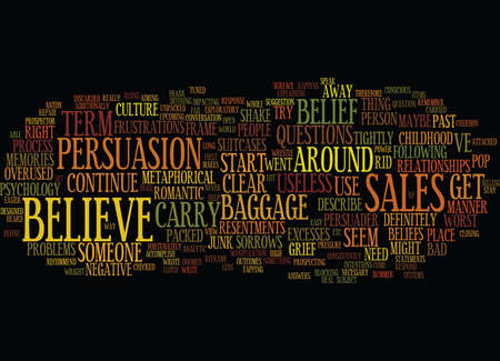 THE POWER OF BELIEF Text Background Word Cloud Concept