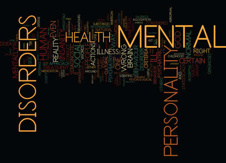THE MYTH OF MENTAL ILLNESS Text Background Word Cloud Concept
