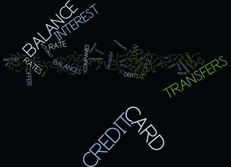 THE PERILS OF CREDIT CARD BALANCE TRANSFERS Text Background Word Cloud Concept Ilustrace