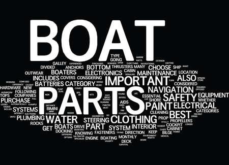 ボート パーツ テキスト背景単語雲概念は最も重要です  イラスト・ベクター素材