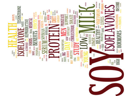 THE JOY OF SOY HEALTH BENEFITS Text Background Word Cloud Concept