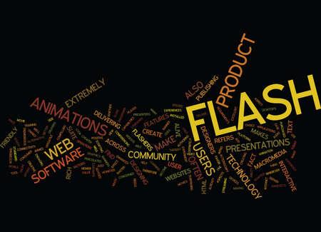 THE LOWDOWN ON FLASH Text Background Word Cloud Concept Ilustração