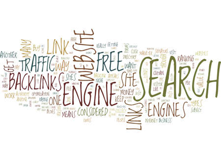 THE POWER OF BACKLINKS Text Background Word Cloud Concept
