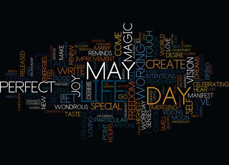 THE MAGIC OF MAY Text Background Word Cloud Concept