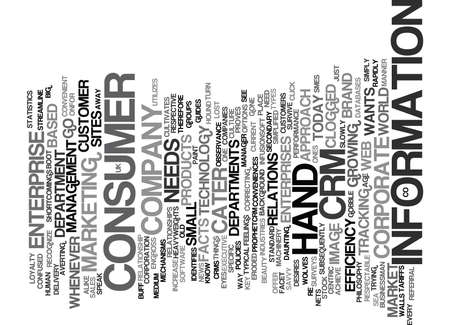 THE EXECUTIVE CONSUMER AND CRM Text Background Word Cloud Concept