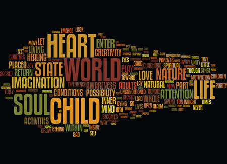 THE NATURE OF SOUL Text Background Word Cloud Concept
