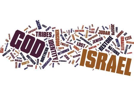 THE PLAIN TRUTH ABOUT THE LOST TEN TRIBES AND WHY YOU NEED TO KNOW Text Background Word Cloud Concept