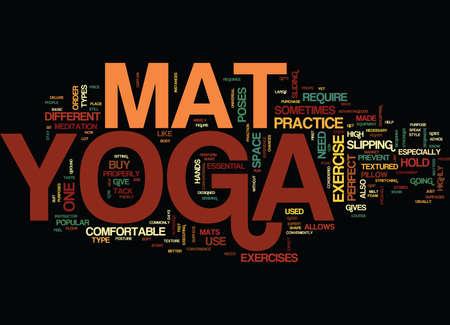 YOGA MAT Text Background Word Cloud Concept