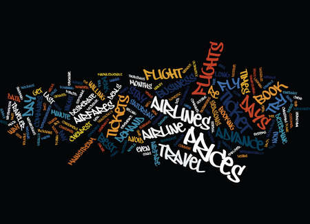THE NUTS AND BOLTS OF AIRFARE DEALS Text Background Word Cloud Concept