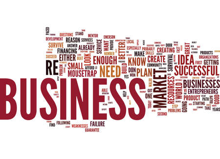 THE NUMBER ONE REASON FOR BUSINESS FAILURE Text Background Word Cloud Concept