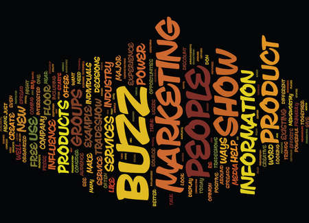 THE POWER OF BUZZ Text Background Word Cloud Concept