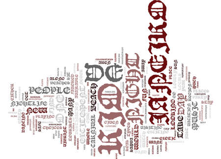 THE NIGHTLIFE OF RIO DE JANEIRO Text Background Word Cloud Concept Illustration