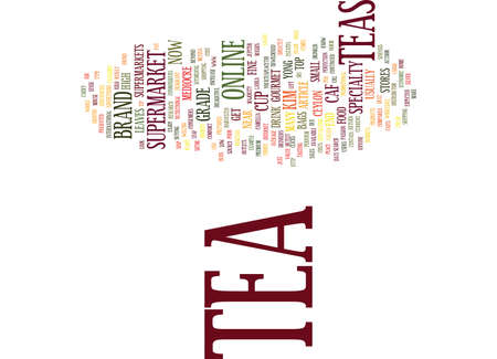 THE END OF SUPERMARKET TEA IS NEAR Text Background Word Cloud Concept