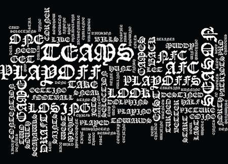 vying: THE PLAYOFF HUNT Text Background Word Cloud Concept