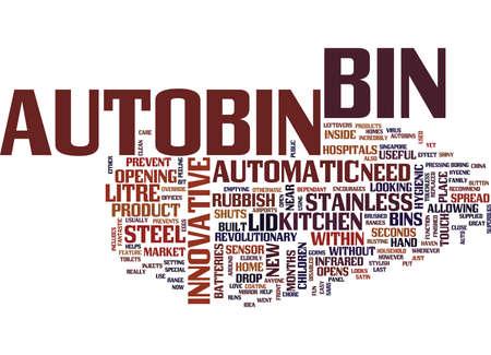 THE INNOVATIVE AUTOBIN Text Background Word Cloud Concept Векторная Иллюстрация