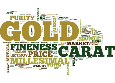 THE PRICE OF GOLD Text Background Word Cloud Concept