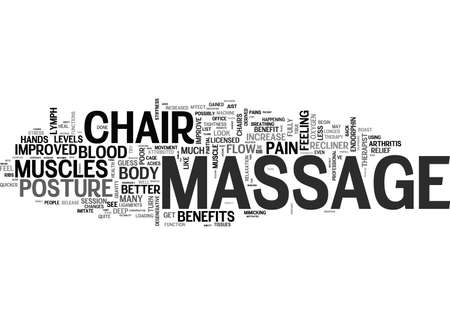 YOU LL NEVER GUESS WHAT A MASSAGE CHAIR RECLINER CAN DO FOR YOU Text Background Word Cloud Concept Vectores