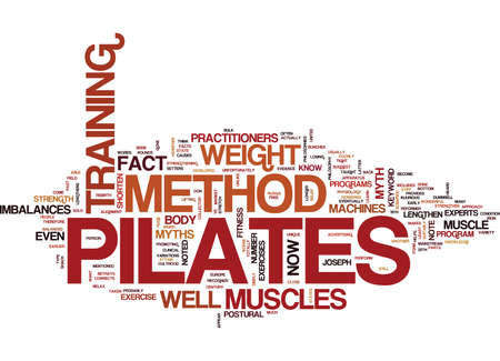 THE PILATES METHOD Text Background Word Cloud Concept