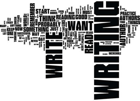 YOU COULD BE AN AUTHOR Text Background Word Cloud Concept