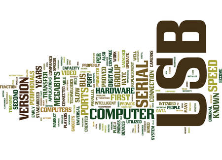 THE JOURNEY FROM USB TO USB Text Background Word Cloud Concept
