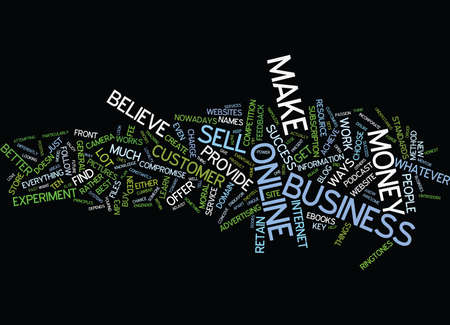 THE KEY TO ONLINE BUSINESS SUCCESS Text Background Word Cloud Concept