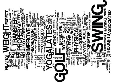 YOGALATES FOR GOLF Text Background Word Cloud Concept