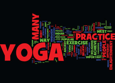 YOGA FACTS Text Background Word Cloud Concept