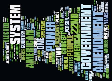 exciting: THE ND AMENDMENT Text Background Word Cloud Concept